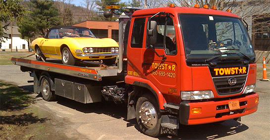 Towstar can haul cars on flatbed in Connecicut