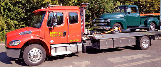 Towstar hauls classic pick up trucks in Simsbury CT
