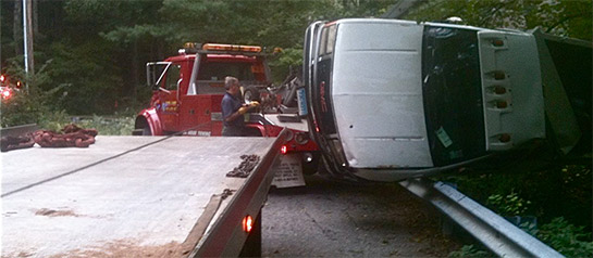 Emergency CT towing and recovery