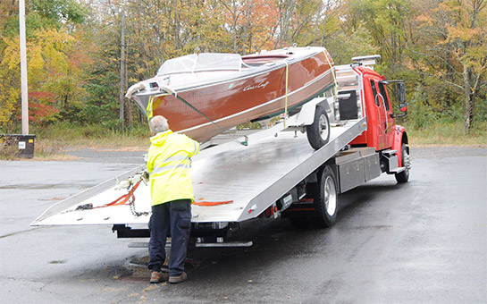 Boat hauling and equipment hauling or moving in CT